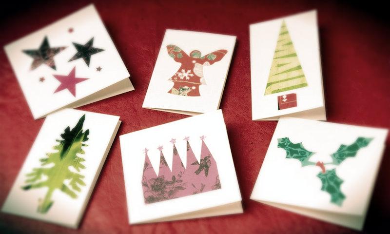 Легкие открытки к новому году своими руками