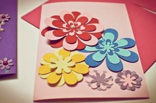 как сделать открытку своими руками на день матери