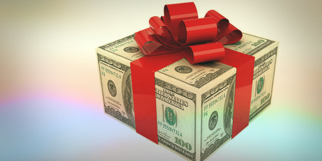 подарок к деньгам