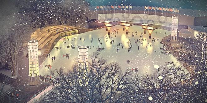 встретить 2016 новый год на катке в москве