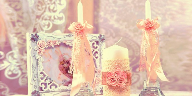 свадебные свечи своими руками