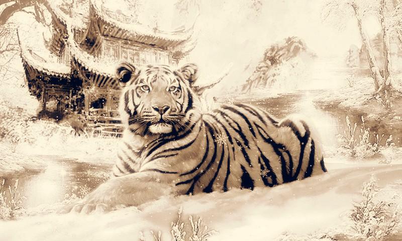 Новогодний сценарий встречи 2022 года Тигра